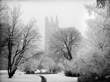 Magdalen College, Oxford, Oxfordshire in the Snow Photographic Print by Henry Taunt