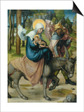 "The Flight to Egypt, from the Altar: ""The Virgin's Seven Agonies"", 1495-96 Print by Albrecht Dürer"