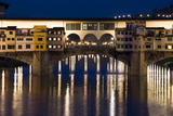 Ponte Vecchio at Night, Florence, Italy Photographic Print by David Clapp