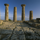 Temple of Hercules, Agrigento, Sicily Photographic Print by Joe Cornish