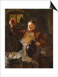 Master Brewer at Mealtime in the Cellar of the Cloister, 1892 Prints by Eduard Grutzner