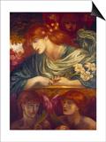 The Blessed Damozel, 1875-79 Prints by Dante Gabriel Rossetti