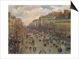 Der Boulevard Montmartre in Paris, 1893 Posters by  Canaletto