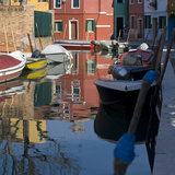 Reflections on Canal in Venice Photographic Print by Mike Burton