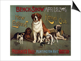 Bench Show, New England Kennel Club Posters