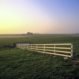 Friesland, Fence in a Field Near Workum Photographic Print by Marcel Malherbe