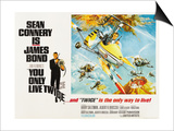 007, James Bond: You Only Live Twice, 1967 Prints