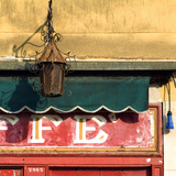 Lamp and Awning Outside Venice Caffe Photographic Print by Mike Burton