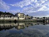 Blois, Loire, View of Town from the River Photographic Print by Marcel Malherbe