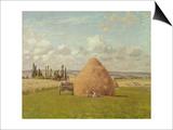 Strohhaufen in Pontoise, 1873 Prints by Camille Pissarro