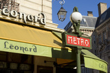 Metro and Cafe, Montmartre, Paris Photographic Print by Natalie Tepper