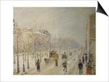 The Boulevards under Snow Posters par Camille Pissarro