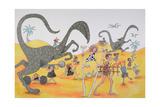 Dinosaurs Family Party Reprodukcje autor Susie Jenkin Pearce