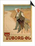 Advertising Poster for Tuborg Beer, 1900 Print by  Plakatkunst
