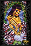 JDH- Skeleton Girl Poster by James Danger Harvey