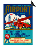 Airport Bourbon Whiskey Posters