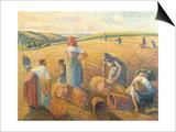 Women Haymaking, 1889 Affiches par Camille Pissarro