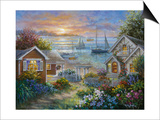 Tranquil Seafront Art by Nicky Boehme