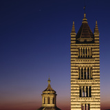 Dusk Shot of Siena Cathedral Bell Tower Photographic Print by Beppe Raso