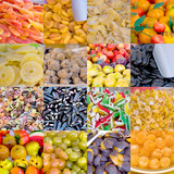 Colourful Multi Compilation of Dried Fruit and Candy in Venice, Italy Photographic Print by Mike Burton