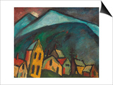 Mountain Landscape with Houses, 1912 Poster by Alexej Von Jawlensky