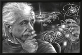 JDH- Einstein Quazar Posters by James Danger Harvey