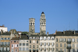 Town. Eglise Vieux Saint-Vincent. Two Stone Towers. Historic Houses Photographic Print by  LatitudeStock