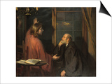 Nicodemus and Christ Prints by Fritz von Uhde