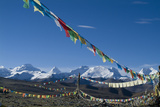 Himalaya Range with Prayer Flags in the Foreground, Tibet, China Photographic Print by Natalie Tepper