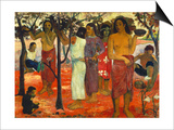 Nave Nave Mahana (Delightful Days), 1896 Prints by Paul Gauguin