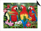 Tropical Friends Prints by William Vanderdasson