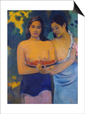 Two Woman from Tahiti, 1899 Posters by Paul Gauguin