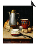 Still Life: Coffee and Potatoes, 1897 Posters by Albert Anker