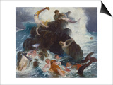 Play of the Naiads, 1886 Poster by Arnold Bocklin