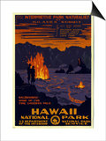 Hawaii National Park Posters