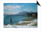 Winterly Lake Tahoe Art by Albert Bierstadt