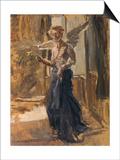 Angel Print by Fritz von Uhde