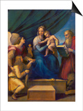The Madonna of the Fish (The Madonna with the Archangel Raphael, Tobias and St, Jerome), C. 1513 Art by  Raffael