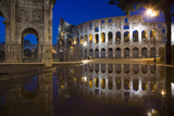 Dusk at the Colosseum, Rome, Italy Photographic Print by David Clapp