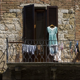 Laundry Day Colle Di Val D'Elsa Provincia Di Sienna Photographic Print by Mike Burton