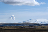View of Plume from Eyjafjallajokull Volcano, Seen from Hotel Ranga, Hella, Southern Icelan Photographic Print by Natalie Tepper