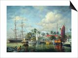 Lahaina Waterfront, Maui Print by Nicky Boehme