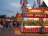 Fair food vendor shacks, Indiana State Fair, Indianapolis, Indiana, Plakaty autor Anna Miller
