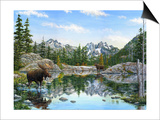 Moose Painting 2 Prints by Jeff Tift