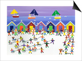 Winter Beach Parade Prints by Gordon Barker