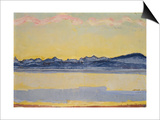 Mont Blanc with Red Clouds, 1918 Prints by Ferdinand Hodler