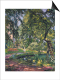Garten at Godramstein with Crooked Tree, 1910 Poster by Max Slevogt