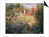 Grazing the Fertile Farmland Prints by Nicky Boehme