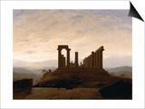 The Temple of Juno, Agrigent, C. 1830 Prints by Caspar David Friedrich