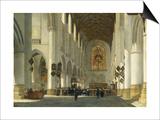 Inneres Der St.Bavo-Kirche in Haarlem, 1665 Posters by Job Adriaensz Berckheyde